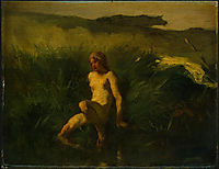 The bather, 1846-1848, millet