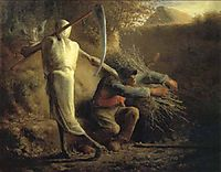 Death and the woodcutter, 1859, millet