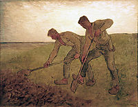 The Diggers, 1855, millet