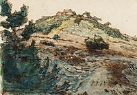 The Farm on the Hill, c.1867, millet
