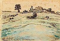 Farm on the hills of the Ardoisière near Cusset, millet