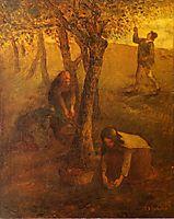 Gathering Apples, millet