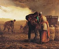 Harvesting potatoes, millet