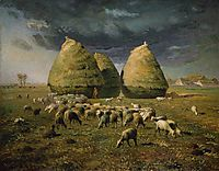 Haystacks Autumn, 1873, millet