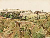A Hilly Landscape, c.1867, millet