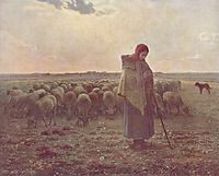 Shepherdess, 1864, millet