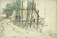 Surroundings of Vichy, house near the water, c.1867, millet
