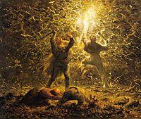 Hunting Birds at Night, 1874, millet
