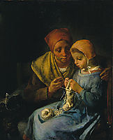 The Knitting Lesson, 1869, millet