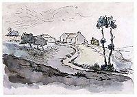 Landscape near Vichy, c.1870, millet
