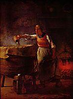 Laundress, c.1861, millet