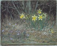 Narcissi and Violets, c.1867, millet