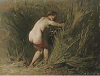 Nymph in the reeds, millet