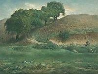 Path through the Chestnut Trees, Cusset, c.1867, millet