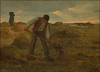 Peasand spreading manure, 1855, millet