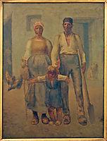 Peasant family, millet
