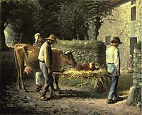 Peasants Bringing Home a Calf Born in the Fields, 1864, millet