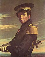 Portrait of a naval officer, millet