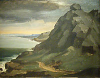 The rock of Castel Vendon, 1848, millet