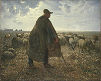Shepherd Tending His Flock, millet
