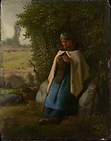Shepherdess Seated on a Rock, 1856, millet