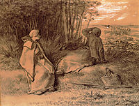 Shepherdesses Seated In The Shade, millet
