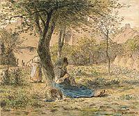 In the garden, 1862, millet