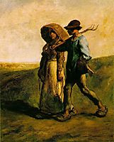The Walk to Work, 1851, millet