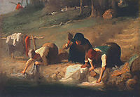 The Washerwomen, millet
