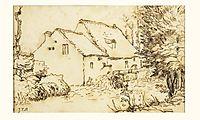 Water mill, 1866, millet