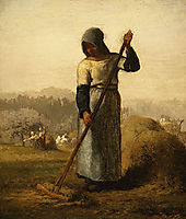 Woman with a rake, 1856-1857, millet