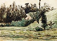 Wooded Hillside near Vichy, millet