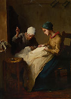 The Young Seamstress, millet