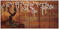 Flowering Cherry with Poem Slips, mitsuoki