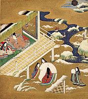 Illustration of the Genji Monogatari (Asagao, The Blue Bell), mitsuoki