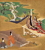 Illustration of the Genji Monogatari (Wakamurasaki), mitsuoki