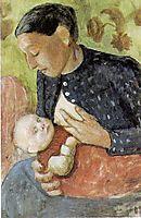 Breastfeeding mother of Paula Modersohn-Becker, 1902, modersohnbecker