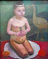 Girl with Stork, 1907, modersohnbecker