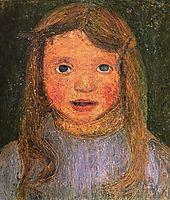 Head of a little girl (Elsbeth), 1902, modersohnbecker