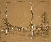 Landscape with birch trees, 1907, modersohnbecker