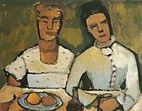 Lee and his sister Hoetger, 1907, modersohnbecker
