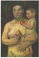 Mother and child, modersohnbecker