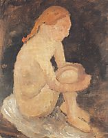 Nude Girl , 1904, modersohnbecker