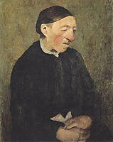Old Woman with handkerchief, c.1903, modersohnbecker