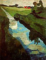 Peat digging, 1902, modersohnbecker