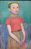 Portrait of an approximately 12-year-old Italian girl, 1906, modersohnbecker