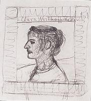 Portrait of Clara Rilke-Westhoff, c.1902, modersohnbecker