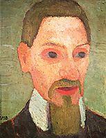 Portrait of Rainer Maria Rilke, 1906, modersohnbecker