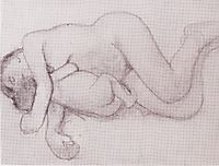 Reclining Mother and Child, 1906, modersohnbecker