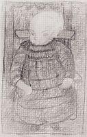 Seated child in an Armchair , 1902, modersohnbecker